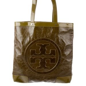 Tory Burch Green Patent Leather Tote